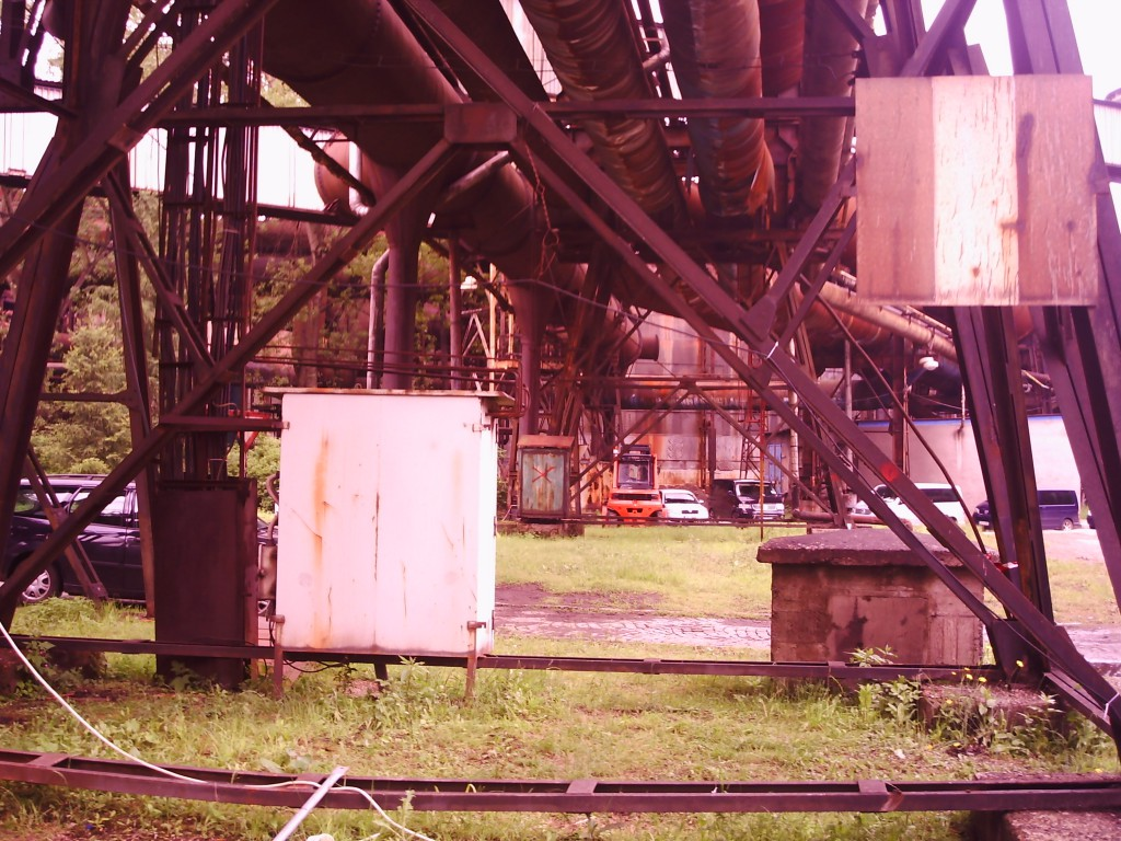 The disused steelworks where filming took place